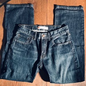 2/$30 Boys Levis 505 Reg 16 28x28 Dark Wash Jeans